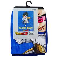 Dragon Ball Z: Vegeta It's Over 9000!!! Sublimation Throw Blanket