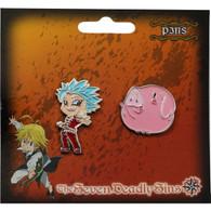 The Seven Deadly Sins: Ban & Hawk Metal Pins Set of 2