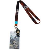 Black Clover: SD Asta Lanyard with ID Badge Holder & PVC Asta Charm