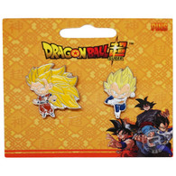 Dragon Ball Super: SS3 Goku & Super Saiyan Vegeta Pins Set of 2