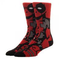 Marvel Deadpool 360 Character Crew Socks - One Pair