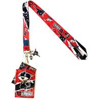 Persona 5 Morgana & Zorro Lanyard with ID Badge Holder & Charms