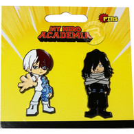 My Hero Academia: Shoto Todoroki & Shota Aizawa Pins Set of 2