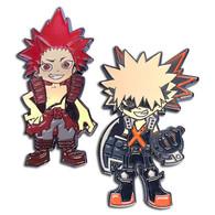 My Hero Academia: Kacchan (Katsuki Bakugo) & Red Riot (Eijiro Kirishima) Pins Set of 2