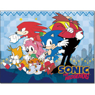 Sonic the Hedgehog: City Group Sonic, Amy, Tails, Knuckles, & Dr. Eggman Sublimation Throw Blanket