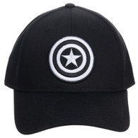 Marvel Captain America Embroidered Symbol Flex Fitted Cap Hat