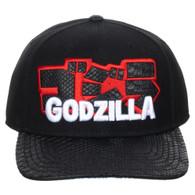 Godzilla Kanji Scaled PU Pre-Curved Snapback Cap Hat