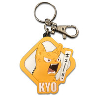 Fruits Basket: Angry Kyo Sohma Cat Face PVC Keychain