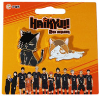 Haikyu!! Kuroo Cat and Kenma Kozume Cat Pins Set of 2