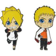 Boruto Naruto Next Generations: Boruto & Naruto Pins Set of 2