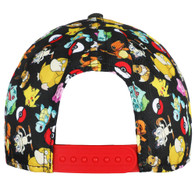 Pokemon All Over Print with Pikachu Patch Adjustable Cap Hat