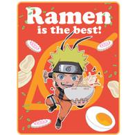 Naruto Shippuden: SD Naruto With Ramen Sublimation Throw Blanket