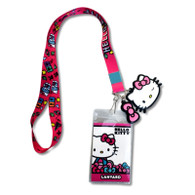 Hello Kitty Science Lanyard with ID Badge Holder & Charms