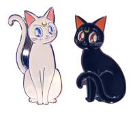 Sailor Moon R: Luna & Artemis Guardian Cats Enamel Pins Set of 2