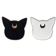 Sailor Moon: Luna & Artemis Guardian Cats Head Enamel Pins Set of 2