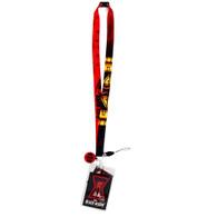 Marvel Black Widow Lanyard with ID Badge Holder & Soft Dangle Symbol Charm