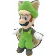"Nintendo Super Mario Brothers All Star Collection Flying Squirrel Luigi 9"" Plush"
