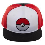 Pokemon Pokeball Color Block Snapback Cap Hat