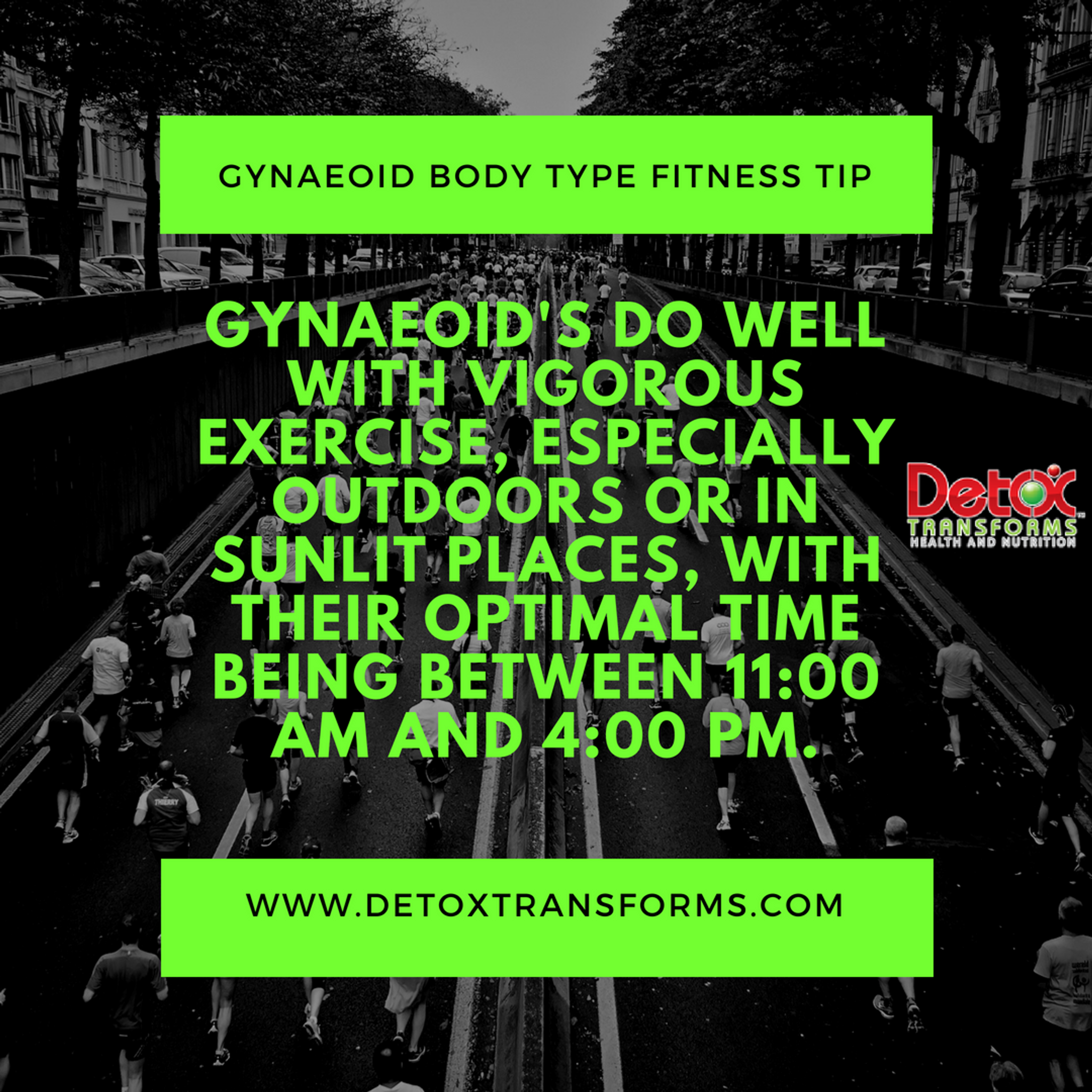 Gynaeoid Body Type Fitness Tip
