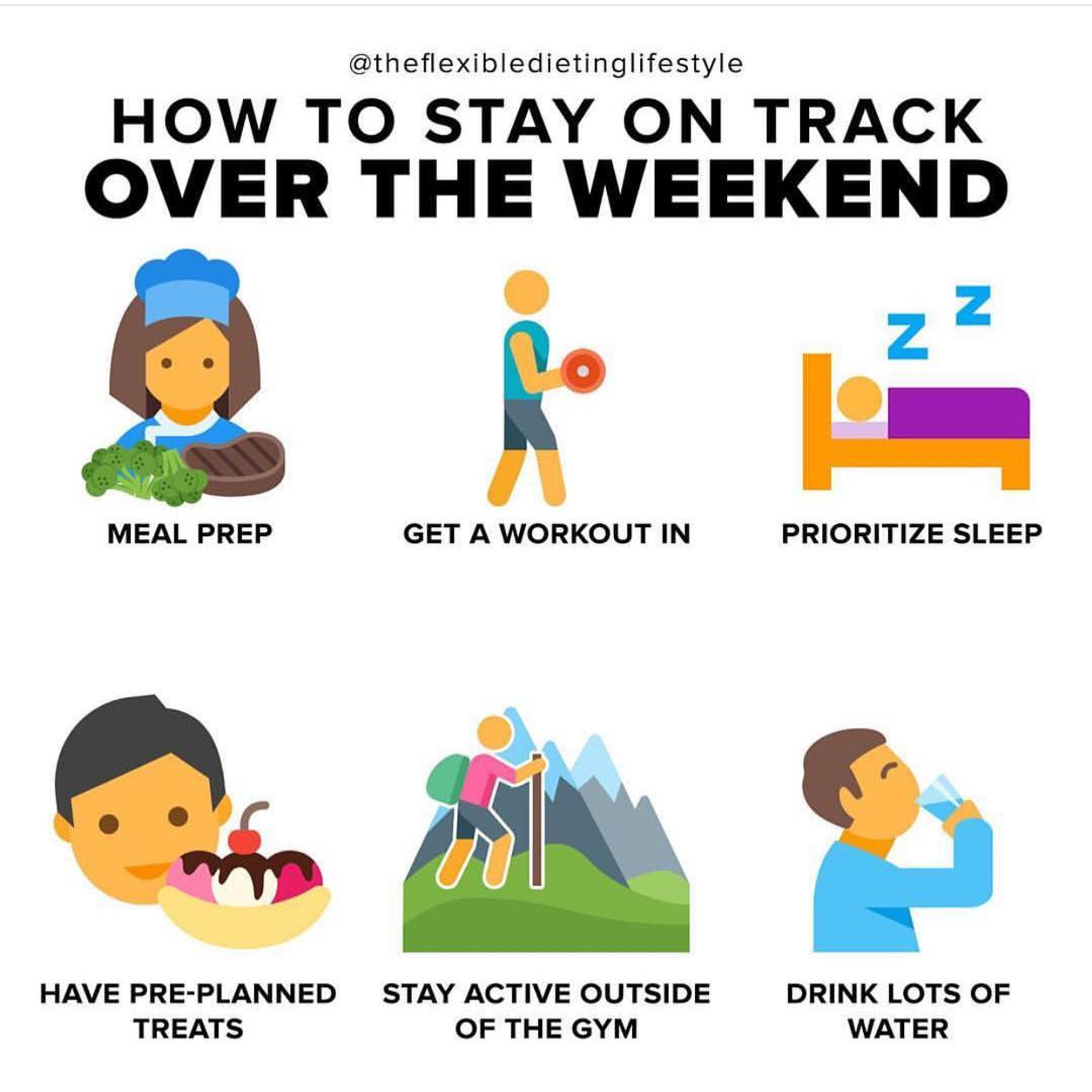 How to stay on track over the weekend!