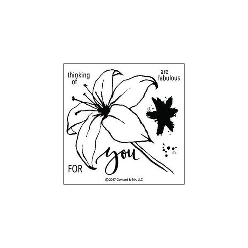 Lily Stamp Set by Concord & 9th