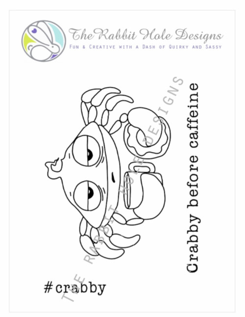 Caffeinated Crab by The Rabbit Hole Designs