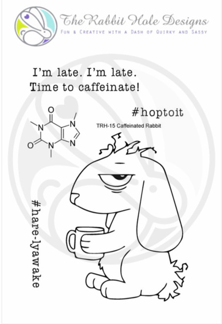 Caffeinated Rabbit by The Rabbit Hole Designs