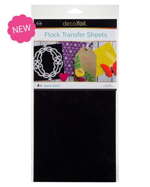 Black Velvet Deco Foil Flock Transfer Sheets
