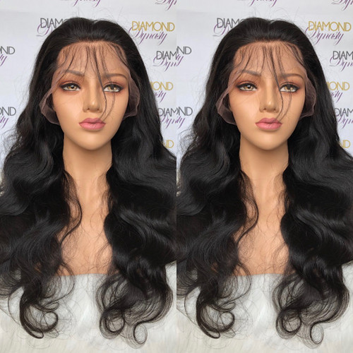 Lace Front Wigs Colodo Colored Pure Orange Full Lace Human Hair Wigs Pre Plucked Colored Wigs Long Straight Transparent Lace Wigs With Baby Hair Be Friendly In Use Lace Wigs