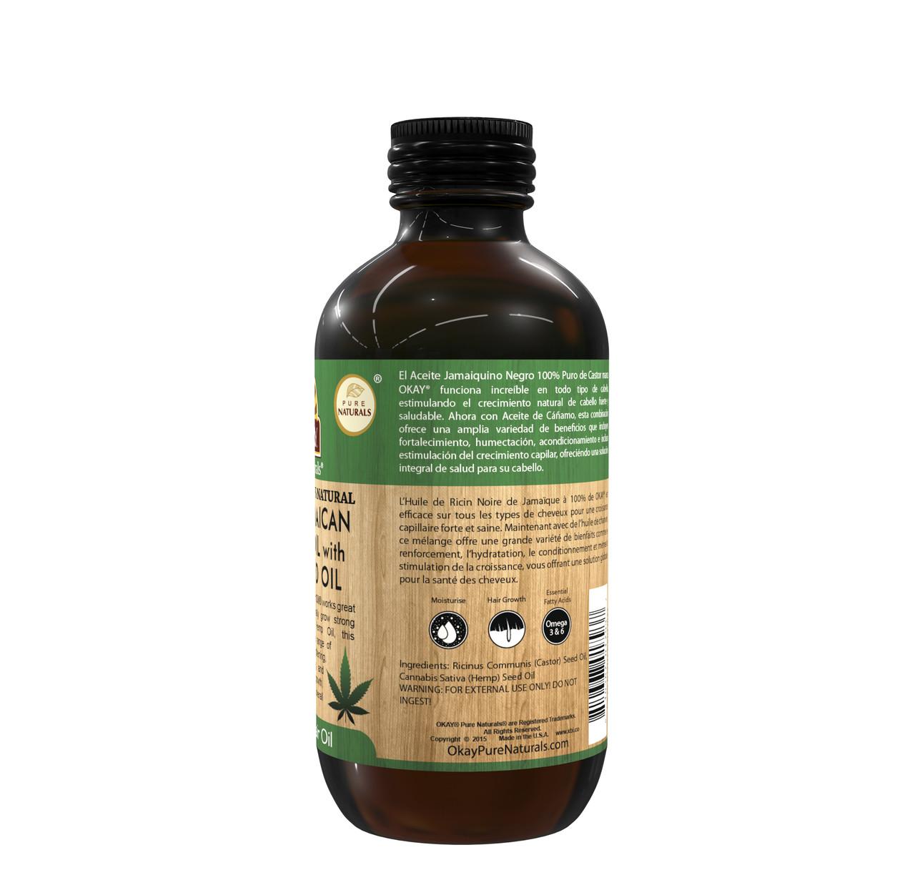 Extra Dark 100 Natural Black Jamaican Castor Oil With Hemp Seed Oil Helps Strengthen Hair