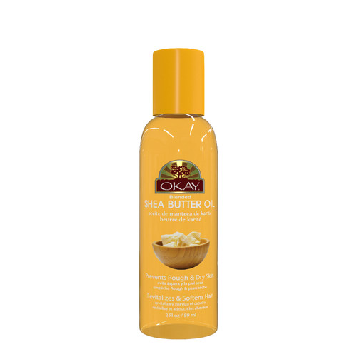 Shea Butter Blended Oil for Skin & Hair-Naturally Rich in Vitamins A, E & F-Evens Skin Tone-Defends Against Eczema -Gives Luster to Skin & Hair -Revitalizes & Softens Hair-For All Hair Textures & Skin Types-Paraben Free -Made in USA  2oz / 59ml