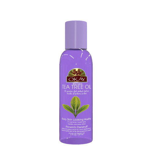 Tea Tree Blended Oil for Hair, Scalp & Skin-Helps Treat Dandruff & Dry Itchy Scalp -Hair Lice Treatment -Treats Nail & Foot Fungus -Acne Treatment- Prevents Oily Skin -For All Hair Textures And All Skin Types- Paraben Free - Made in USA  2oz / 59ml