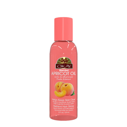 Apricot Blended Oil for Hair & Skin Paraben Free -Restores Moisture To Dry, Flaky & Itchy Skin -Helps Treat Dandruff & Adds Radiance To Hair -For All Hair Textures And All Skin Types- Paraben Free - Made in USA   2oz / 59ml