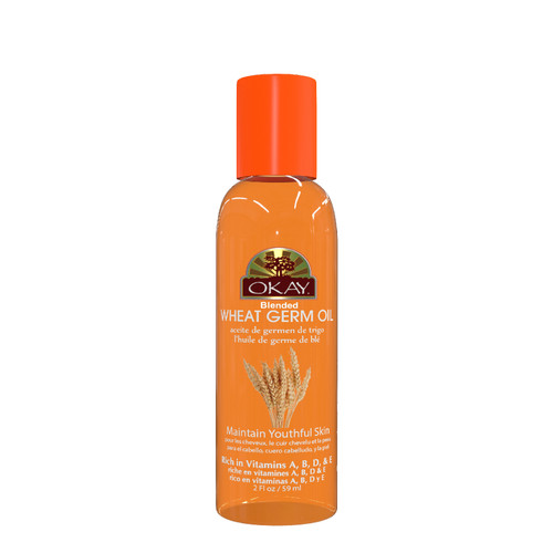 Wheat Germ Blended Oil for Hair & Skin Paraben Free-Rich In Vitamins A, B, D, & E- Nourishes Skin, Provides A Soft Glow -Provides Shiny, Healthy, Soft Looking Hair- For All Hair Textures And All Skin Types- Paraben Free - Made in USA  2oz / 59ml
