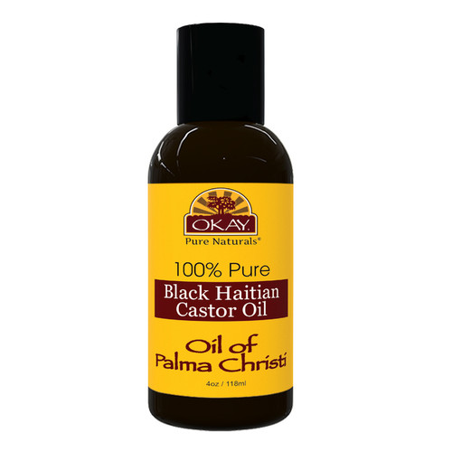 Black Haitian Castor Oil huile mascreti  - Helps Soothe Scalp & Skin, Helps Naturally Grow Strong Healthy Hair, Helps Balance Oily Hair, Stimulate Hair Follicles - For all Hair Types- Made in USA-4oz / 118ml