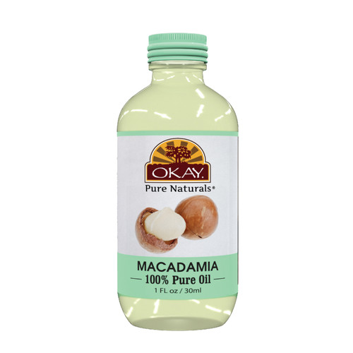 Macadamian Oil 100% Pure Naturals for Hair & Skin-Heals Skin- Softens And Moisturizes Skin- Improves Hair Strength & Manageability- Controls Frizz- For All Hair Textures And All Skin Types- Silicone, Paraben Free - Made in USA    1oz / 30ml