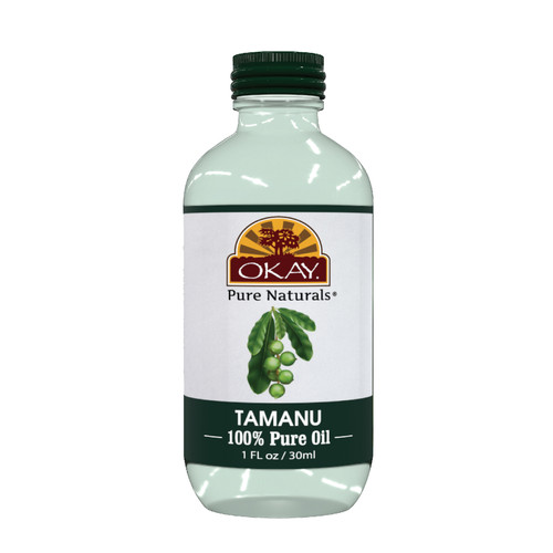 OKAY Tamanu Oil 100% Pure Naturals-Natural Skin Healer - Non Comedogenic -Cell Producing Skin Repair & Healing- Treats Skin Irritations & Inflammations- For All Hair Textures And All Skin Types- Silicone, Paraben Free -1oz / 30ml