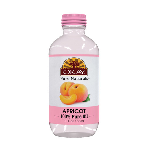 Apricot Oil 100% Pure for Hair & Skin-High In Vitamin A & C- For Dry, Itchy, Sore, Chapped Skin-Treats Scalp Dandruff -Softens Hair & Adds Radiance -For All Hair Textures And All Skin Types- Silicone, Paraben Free - Made in USA  1oz / 30ml