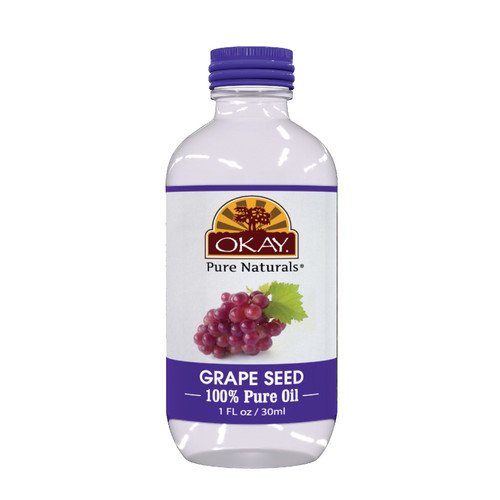 Grape Seed Oil 100% Pure for Hair & Skin- Non Comedogenic -For All Hair Textures And All Skin Types- Excellent Moisturizer For Skin & Hair  -High In Antioxidants -Silicone, Paraben Free - Made in USA  1oz / 30ml