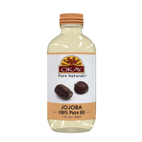 Jojoba Oil 100% Pure for Hair & Skin- Deep Conditioning Treatment- Facial Eye & Face Makeup Remover-Hair & Scalp Massage-Foot & Hand Softener-For All Hair Textures And All Skin Types- Silicone, Paraben Free - Made in USA   1oz / 30ml