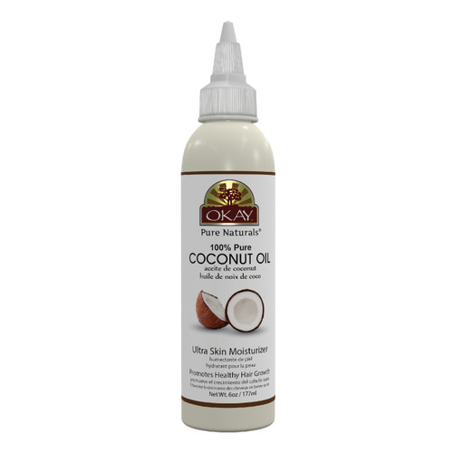 Coconut Oil 100% Pure for Hair & Skin- Prevents Dryness & Flaking Of Skin- Softens Hair & Conditions Scalp- Great Moisturizer- For All Hair Textures And All Skin Types- Silicone, Paraben Free - Made in USA  6oz / 177ml