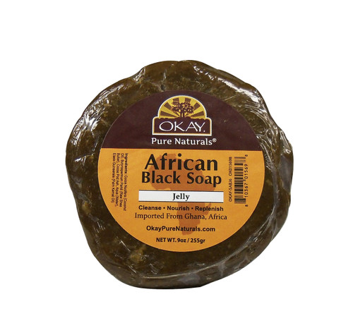 African Black Soap from Ghana with Shea Butter-Antiseptic -Natural Remedy For  Skin- For Treatment Of Skin Conditions Like Acne, Blemishes, & Psoriasis-  Sulfate, Silicone, Paraben Free For All Skin Types - Created In Ghana- Processed In USA 9oz