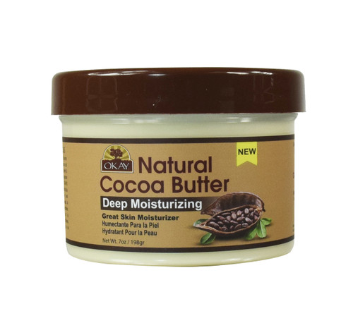 Cocoa Butter 100% Natural Smooth for Skin and Hair-Makes Skin Soft And Moisturized-Keeps Skin Protected & Hydrated -Provides Hair Extra Conditioning, Nourishment & Shine - Made In USA 7oz / 198Gr