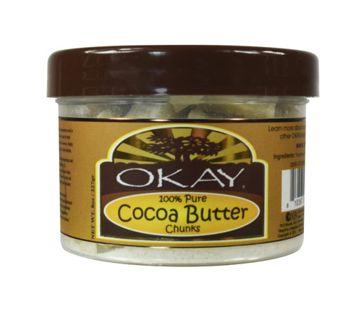 Cocoa Butter 100% Pure Chunks for Skin and Hair-Makes Skin Soft And Moisturized-Keeps Skin Protected & Hydrated -Provides Hair Extra Conditioning, Nourishment & Shine - Made In USA 8oz / 227Gr