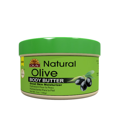 Olive Butter 100% Natural Smooth for Skin and Hair-  Restores Moisture To Dry Damaged Skin - Reduces Skin Damage-Heals, Nourishes & Conditions Hair - Adds Strength to Hair Cuticle- Made In USA 7oz / 198Gr