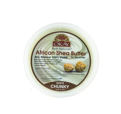 Shea Butter Raw White Chunky - All Natural, 100% Pure- Refined- Daily Skin Moisturizer For Face & Body-  Softens Tough Skin- Moisturizes Dry Skin- Adds Shine & Luster To Hair-Alleviates Scalp Dryness  10oz / 283Gr