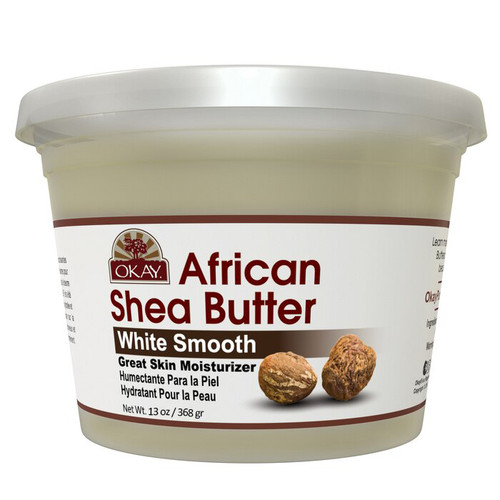 Shea Butter White Smooth - All Natural, 100% Pure- Refined- Daily Skin Moisturizer For Face & Body-  Softens Tough Skin- Moisturizes Dry Skin- Adds Shine & Luster To Hair-Alleviates Scalp Dryness  13oz / 368Gr