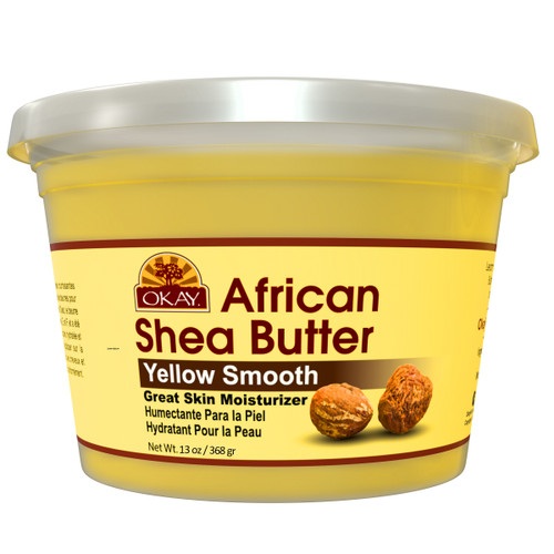 Shea Butter Yellow Smooth - All Natural, 100% Pure- Unrefined- Daily Skin Moisturizer For Face & Body-  Softens Tough Skin- Moisturizes Dry Skin- Adds Shine & Luster To Hair-Alleviates Scalp Dryness  13 oz / 368Gr