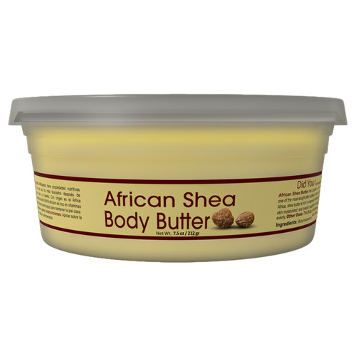 Shea Butter Yellow Smooth- All Natural, 100% Pure- Unrefined- Daily Skin Moisturizer For Face & Body-  Softens Tough Skin- Moisturizes Dry Skin- Adds Shine & Luster To Hair-Alleviates Scalp Dryness  7.5oz / 212gr