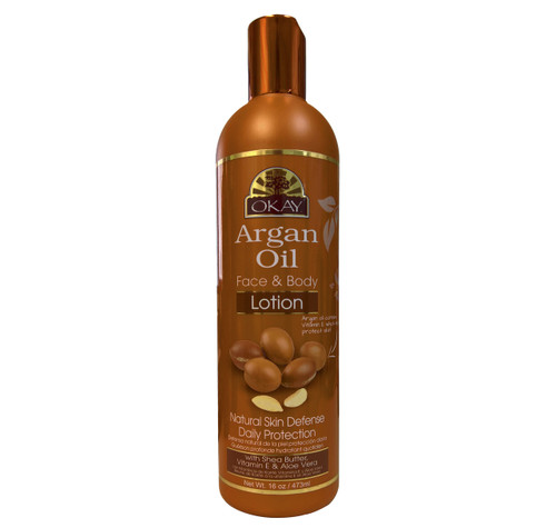 Argan Oil Lotion for Face & Body - Instant Moisturizer- Heals Skin-  Essential For Daily Protection -Helps Restore Elasticity- Achieve Soft, & Radiant Skin-Silicone, Paraben Free For All Skin Types- Made in USA 16oz / 473ml